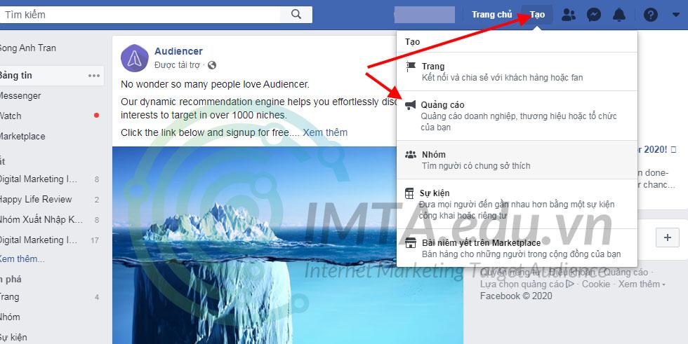 Tạo tài khoản quảng cáo Facebook Ads