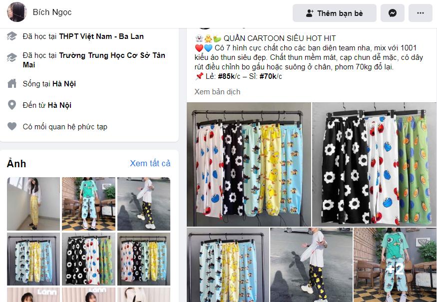Bán hàng Facebook trang cá nhân