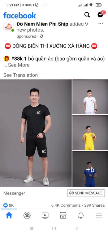 Kinh doanh quần áo Facebook