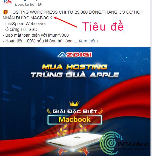 Tiêu đề Facebook