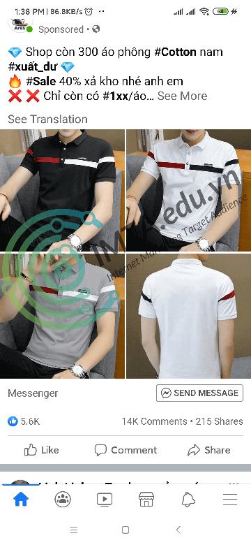 Lĩnh vực thời trang quần áo