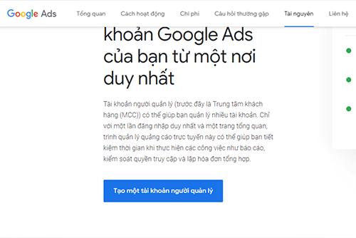 Tạo tài khoản MCC và Quảng Cáo Google Ads