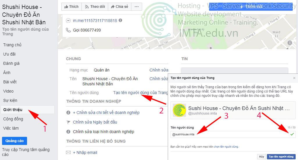 Thay đổi đường link trang