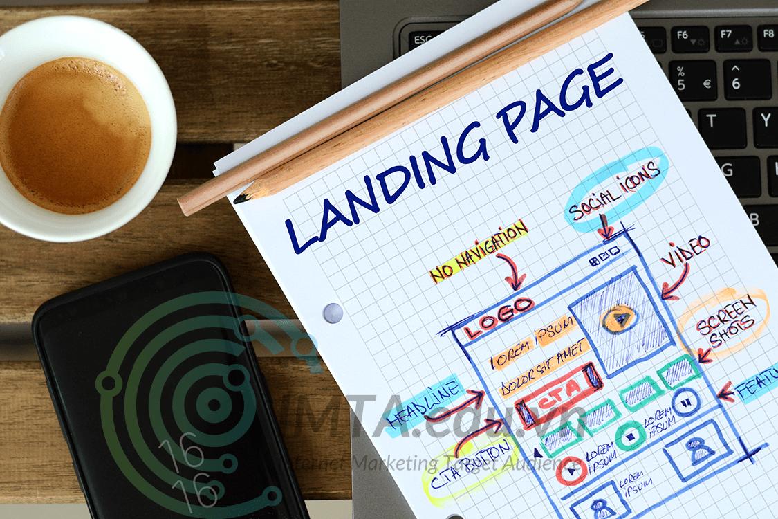Landing page là page đầy đủ nội dung để chạy ads