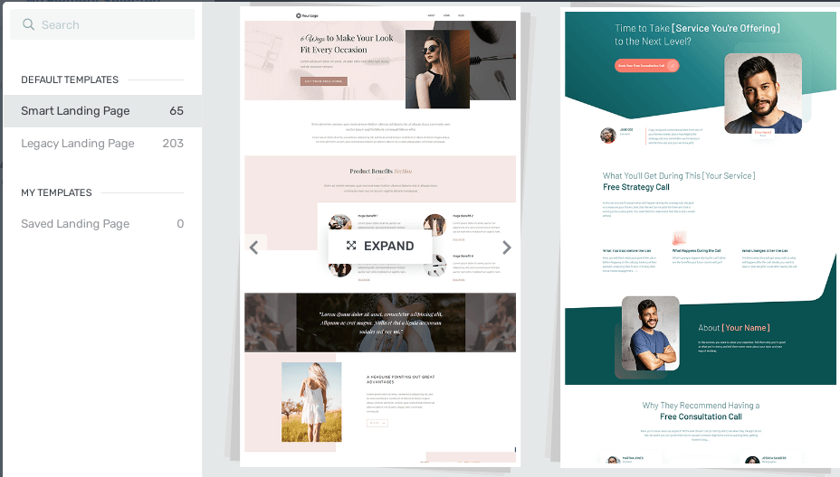 Landing Page của Thrive Theme