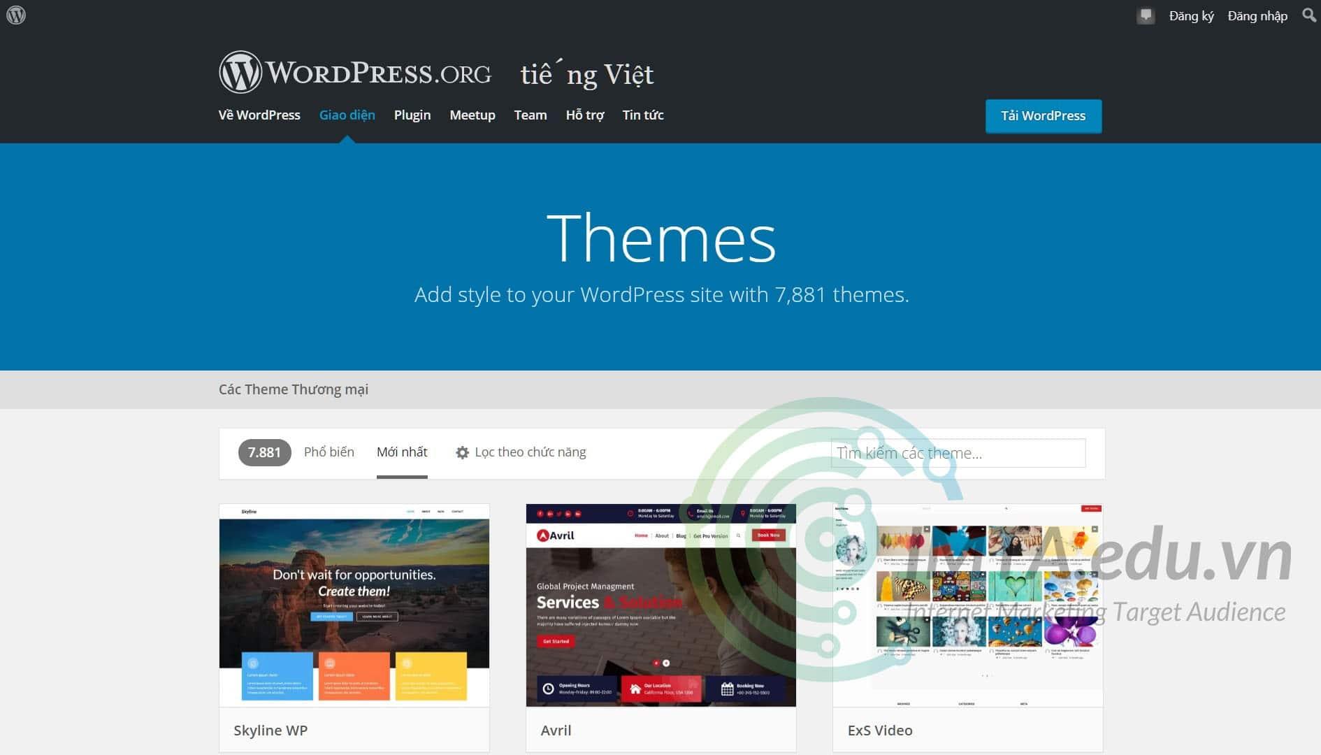 WordPress sở hữu kho theme lớn với đa dạng thể loại