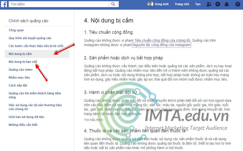Chính sách quảng cáo Facebook Ads
