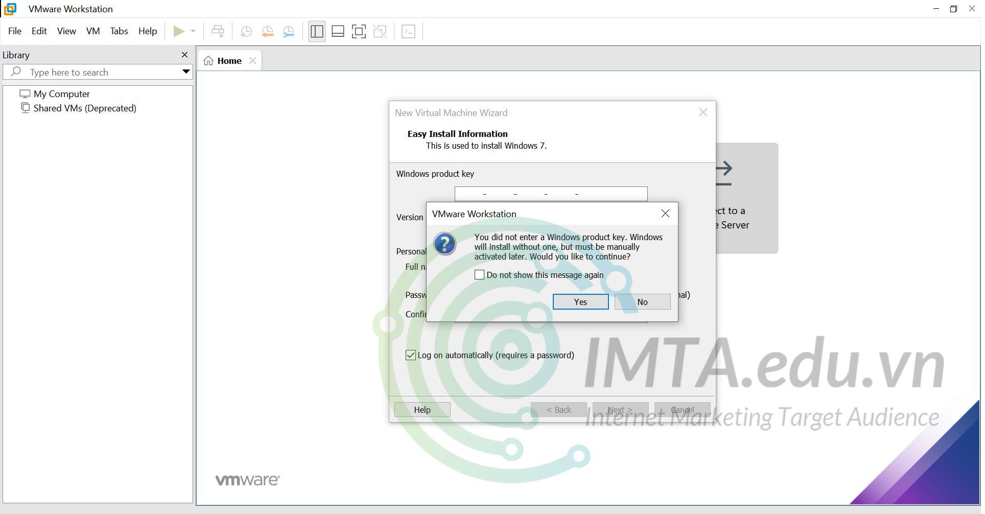 Thông báo về việc kích hoạt bản quyền Windows