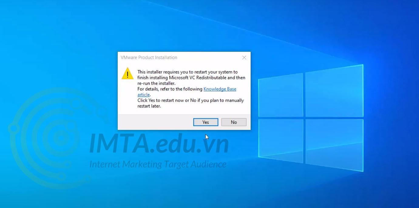 Thông báo yêu cầu khởi động lại máy tính