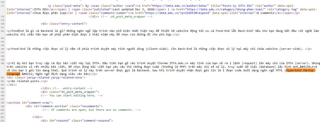 Đoạn Code HTML