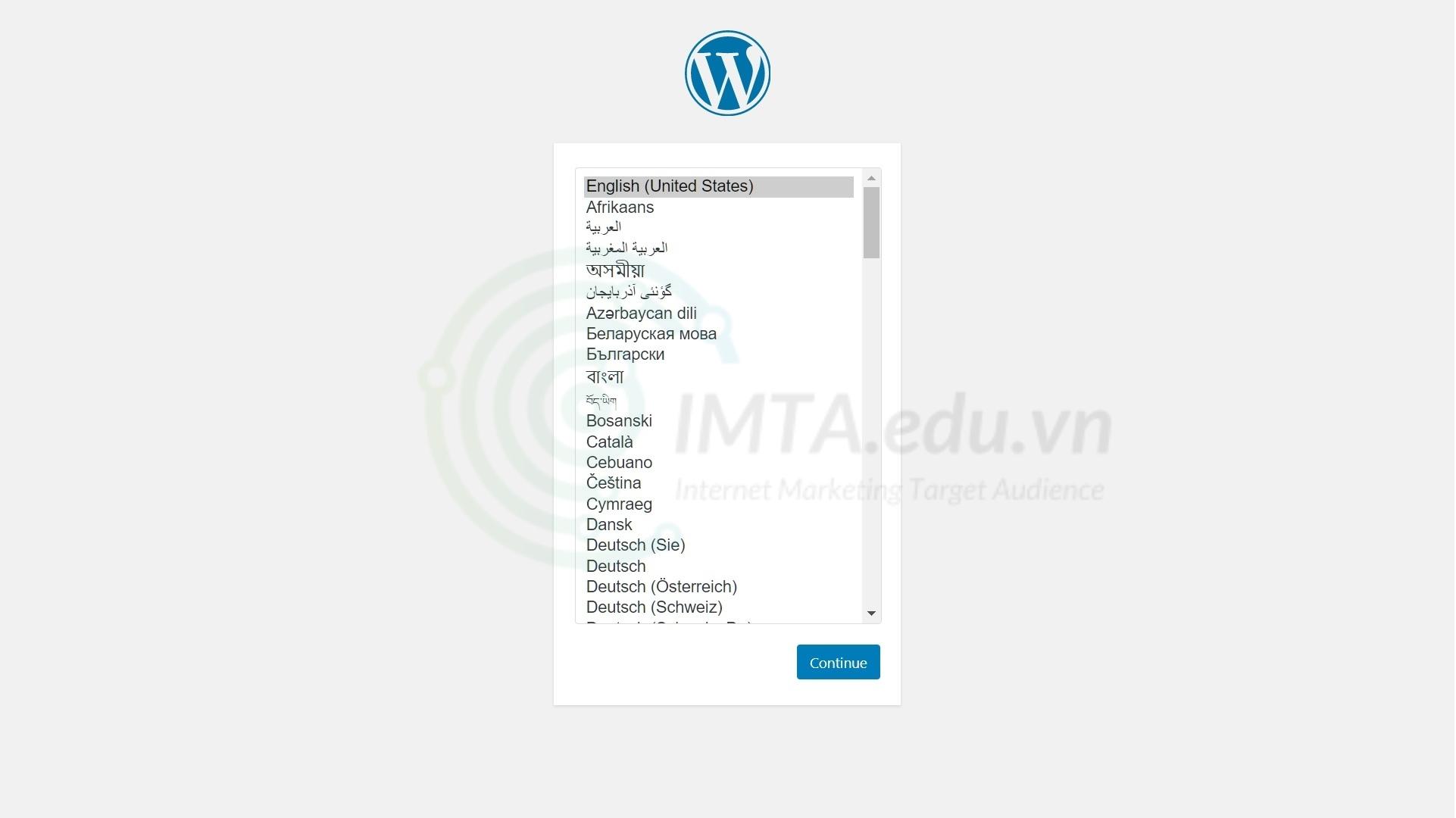 Chọn ngôn ngữ hiển thị WordPress