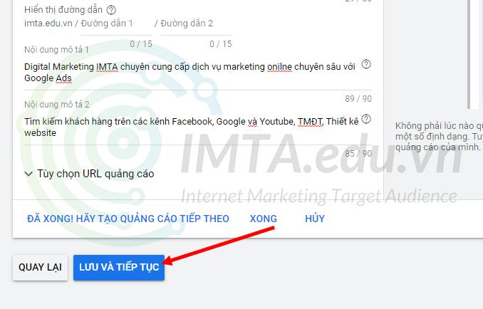 Đăng chiến dịch Google Ads