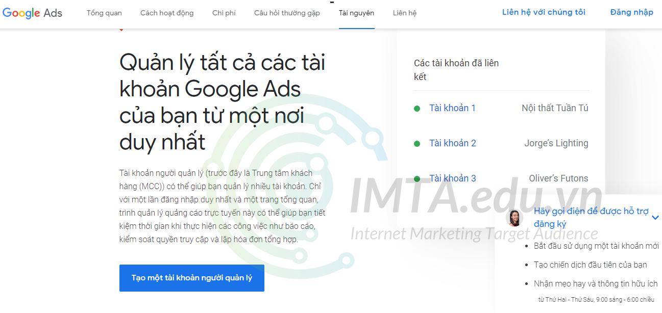 Tài khoản Google MCC