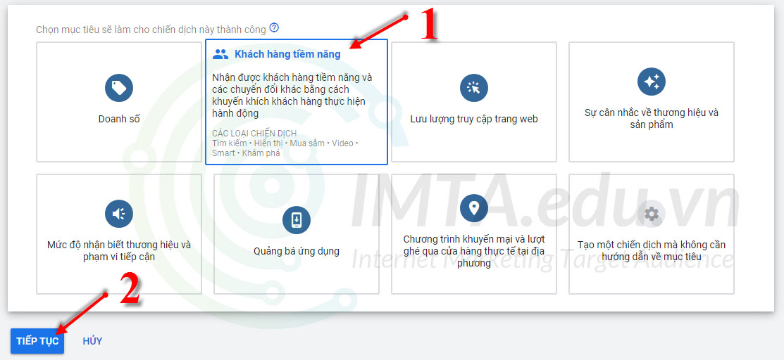 Tạo chiến dịch Google Ads