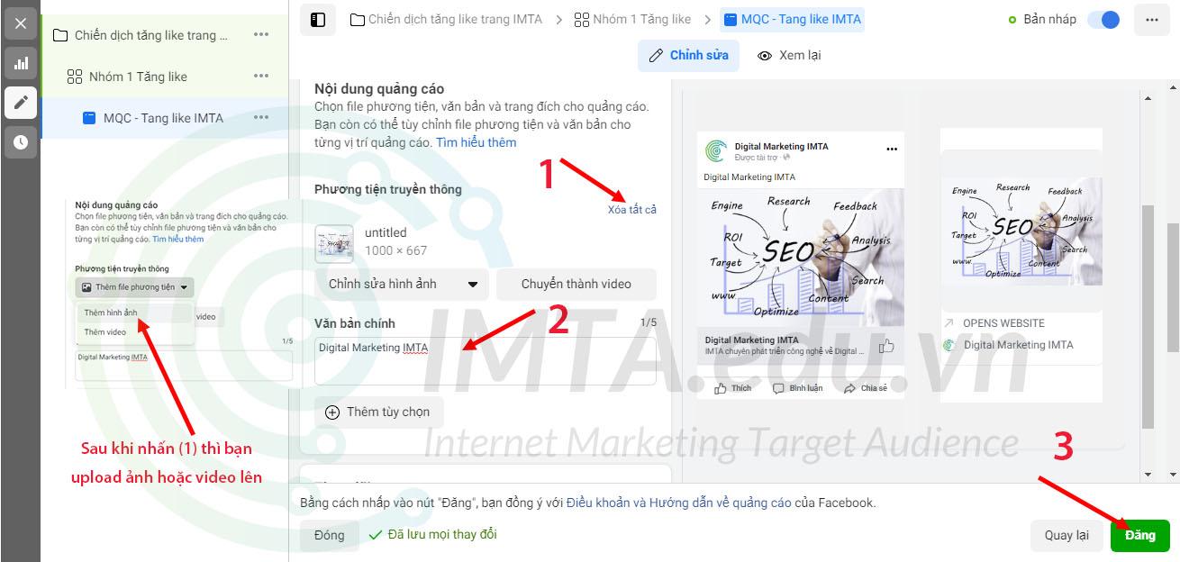 Tạo nội dung quảng cáo Facebook
