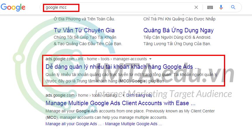 Tạo tài khoản MCC Google