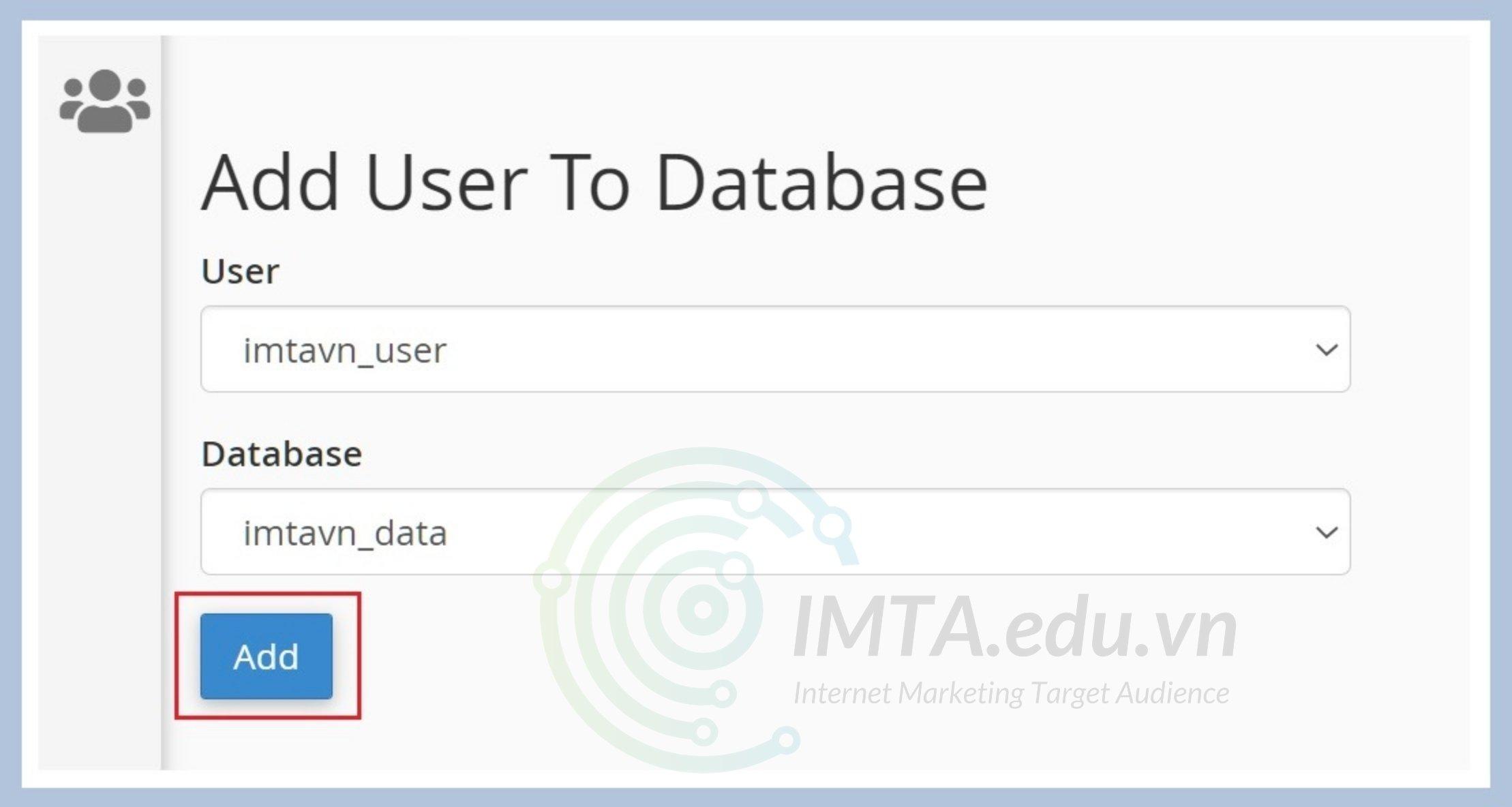Thêm user vào database