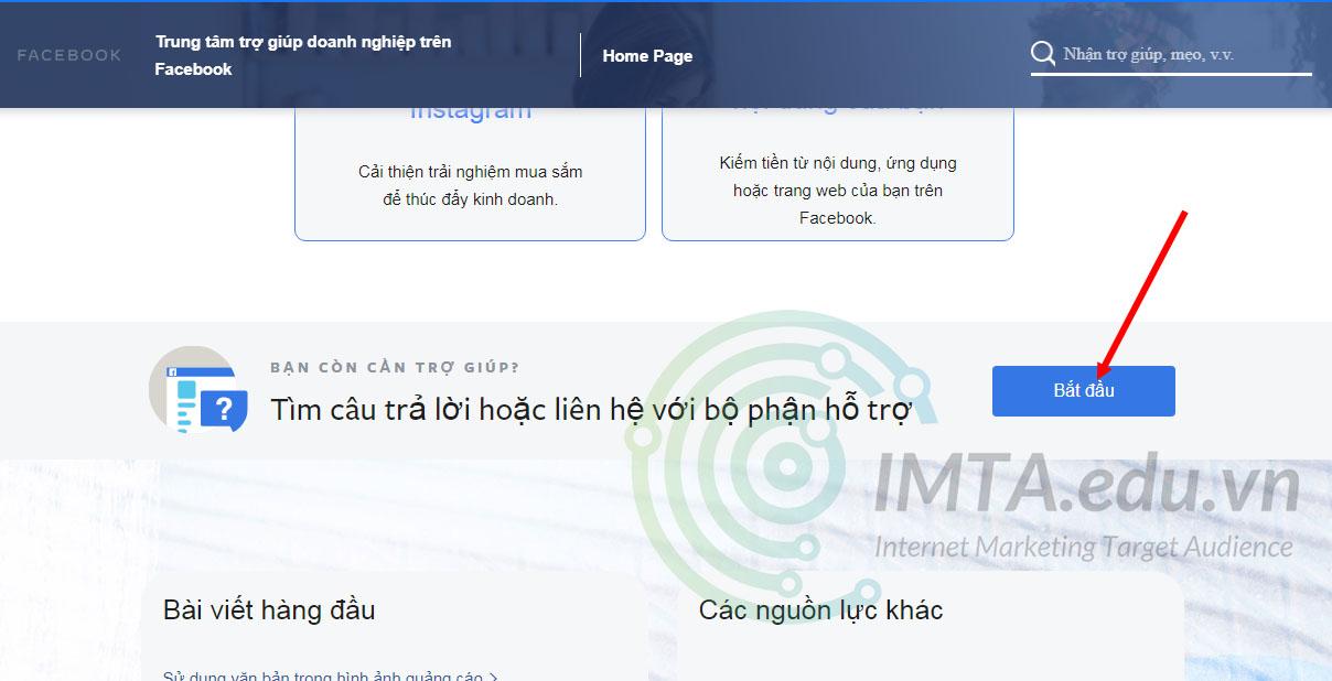 Bắt đầu vào chat với Facebook