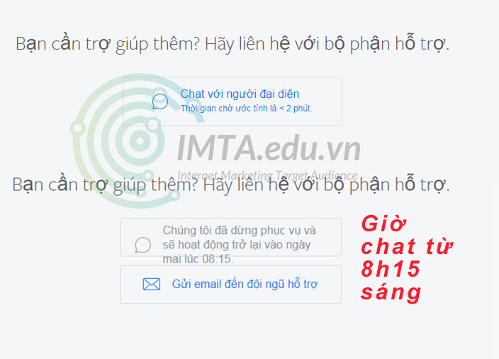 Giờ chat của Facebook