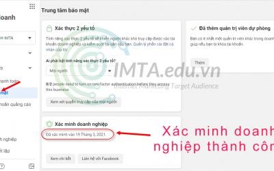 Xác Minh Doanh Nghiệp Facebook Business (BM) Chi Tiết Thành Công