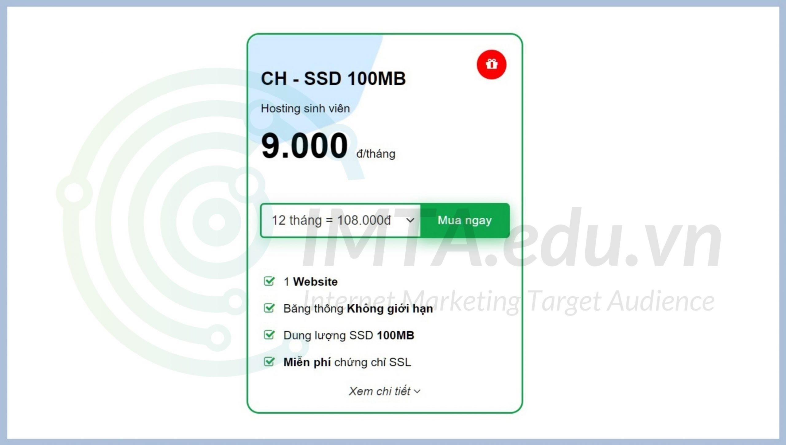 Một gói hosting giá rẻ trên thị trường