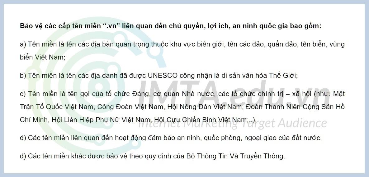 Quy định đăng ký tên miền Việt Nam - phần một