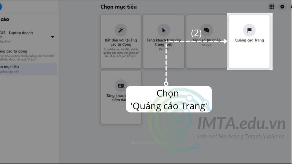 Chọn quảng cáo Trang
