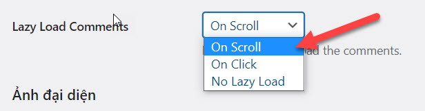 Lazy Load Comments