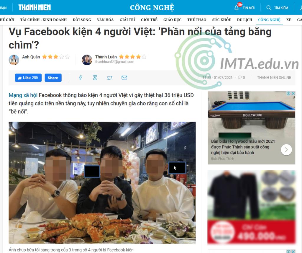 Facebook kiện 4 thanh niên Việt Nam
