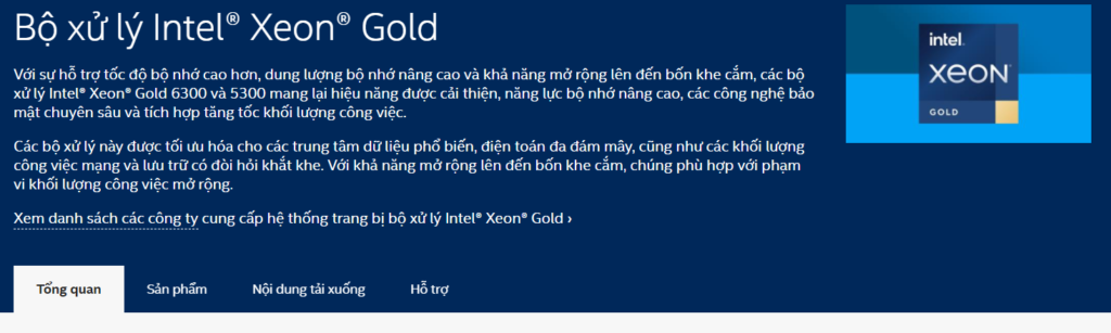 CPU Xeon Gold
