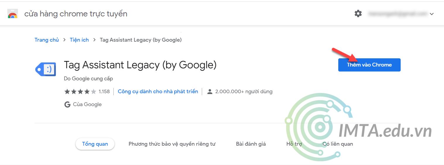 Cài đặt Google Tag Assistant