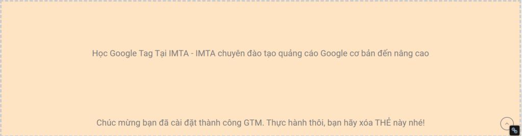 Cài thẻ HTML cho website bằng GTM