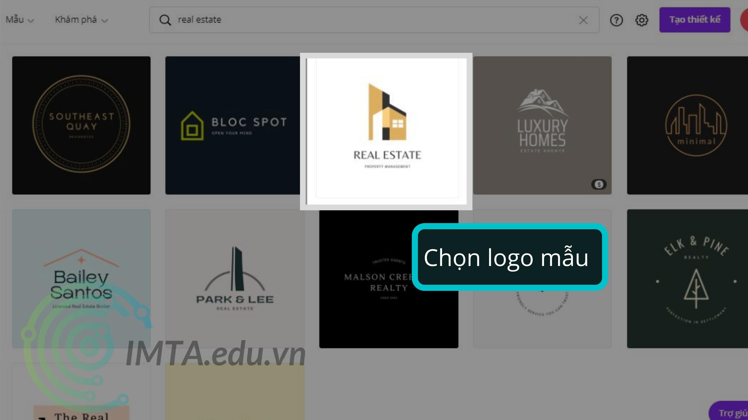 Chọn mẫu logo Canva mà bạn ưng ý nhất