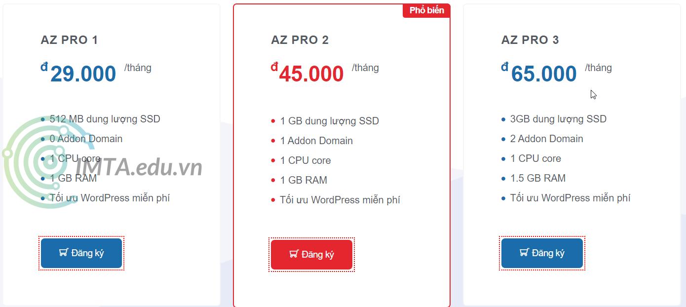 Gói AZ Pro 2 & AZ Pro 3