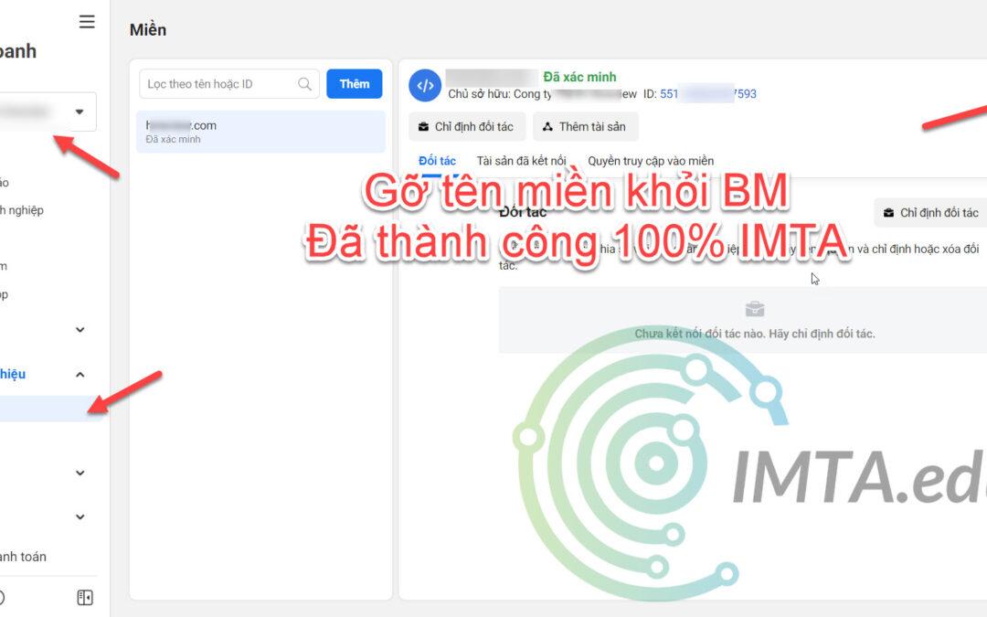 Cách gỡ domain tên miền ra khỏi BM trong Trình quản lý kinh doanh